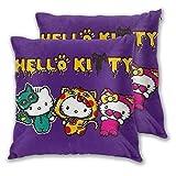 MISS-YAN Hello Kitty et Mimmy Lot de 2 housses de coussin décoratives pour lit/chaise/canapé