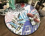 WJY Tapis Rond Hall D'entrée Salon Chambre À Coucher Bureau Table Basse Restaurant Moquette Chaise D'ordinateur Tapis De Salle De Bain (Color : SY-040, Size : 80CM)
