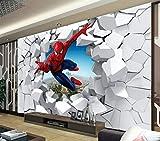 Papier Peint Spiderman Personnalisé 3d Photo Papier Peint Super Héros Murale Garçons Chambre Salon Pépinière Designer Chambre Décor