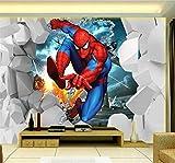 enfants Photo papier peint Spiderman Mural pour la chambre des enfants chambre Tv fond étanche moderne décoration murale
