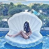 YHSW Lit Flottant Gonflable pour Piscine Gonflable Shell,Chaise Longue d'été pour l'eau de mer en Plein air,est Le Meilleur hamac pour Adultes et Enfants (110 * 150 cm)