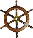 Roue de bateau en bois de 45,7 cm : bateau de pirate, pêche nautique