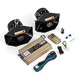 Frantools 2 Pcs Voiture Avertissement alarme 400 W fort sirène de voiture 12 V alarme fort klaxon sirène avec 8 tonalités différentes