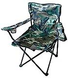 Mojawo Chaise de camping pliante avec porte-gobelet et sac Camouflage