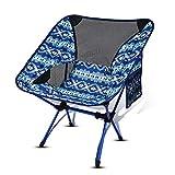 Fuyamp Chaise de camping portable ultralégère pliante pour voyage en plein air, plage, pique-nique
