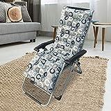 iBoosila Coussin de chaise longue à bascule Coussin intérieur/extérieur Coussin épais pour banquette de chaise en rotin Coussin de chaise de jardin 48 125 cm (sans chaise) Lettre C 48 x 125 x 8 cm.