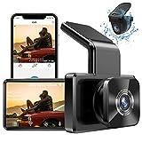 AUTOWOEL Dashcam Voiture Avant et Arriere avec WiFi et GPS, Camera Surveillance Dache Cam Full HD 1080P, Dash Caméra embarquée Double Objectif Avant et arrière avec écran IPS 3 Pouces, Vision Nocturne