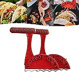 2Pcs Grille-Pain À Tacos,Fabricants de coquilles de Tortillas saines,Outil De Fabrication De Coquilles Tacos,Outils de Cuisine lavables au Lave-Vaisselle pour Tous Les Grille-Pain Standard.