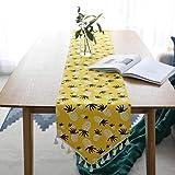 SHUJINGNCE Coton et Lin Simple Hipster Hipster de Style Japonais de Style balayeur Drapeau Table thé Table TV armoires de la Table de Porche Bleu (Color : 1, Size : 30x180cm)