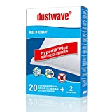 Dustwave® Megapack Lot de 20 sacs d'aspirateur pour Rowenta Silence Force RO6432 Fabriqué en Allemagne