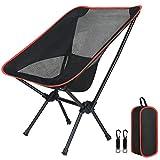 Flintronic Chaise de Camping Pliable avec Sac de Transport, Ultra Légère Chaise de Plage Pliable, pour la randonnée Pêche Barbecue Pique Extérieur, Capacité de 100 kg