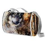 TIZORAX Couverture de pique-nique d'extérieur avec dos imperméable lavable et pliable Tapis de camping compact pour chien alsacien