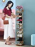weichuang Porte-Chaussures Étagère à Chaussures d'or Nordique antipoussière Porte en métal Espace Multi-Couche d'économie Simple économie de la Maison Petite Armoire à Chaussures Chaussure