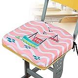 Coton De Mémoire Coussins D'Assise, étudiant Booster Mat Doux Respirabilité Salle De Classe Chaise Office Butt Pad Non-Slip Lavable-voilier Rose 37x35x4cm