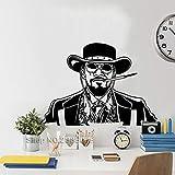 Django déchaîné Vinyle Stickers Muraux Salon Canapé fond Murale Amovible Art Décor À La Maison Fumer Affiche Affiche Stickers 61 * 42 cm