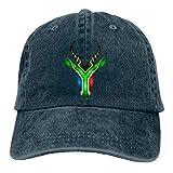 Jhonangel South African Springbok Dad Vintage Baseball Cap Denim Chapeaux Réglable Unisexe