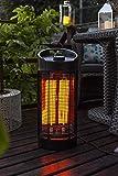 MaxxGarden Chauffage électrique de Table - Radiateur à Infrarouge Rotatif 700-1200 W - pivotante