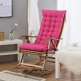LOVRE Fauteuil inclinable Coussin Chaise berçante Coussin Un Coussin Femelles épais Anti-dérapant rotin Bambou Retour Coussin 48x120cm-rose 48x120cm(19x47inch)