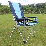 FJC Chaises De Camping en Plein Air Chaise Pliante, Pêche Chaise Loisirs, Chaise Respirant Solide Plage Portable, (Couleur: 2) (Couleur : Blue)