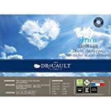 DROUAULT - Oreiller synthétique enveloppe 100% coton anti acariens et anti taches Arica