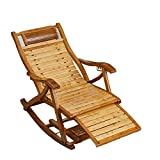 LOKKG Chaise Longue de Jardin en Bois, Chaise Longue en Bois Pliante pour transat, mobilier de Jardin Solide