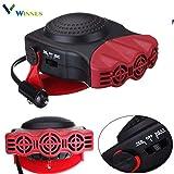 Chauffage de voiture 12 V, portable, ventilateur électrique, dégivreur avec ventilateur pour fenêtres, chaud/froid, 150 W, 180 ° rotatif, résistance en céramique, 711038 (rouge)