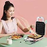 Fabricant double grille-pain électrique Plaques de revêtement non-bâton de grille-pain à grille-petits Petit-déjeuner Muffin Machine pour un nettoyage facile, rose kshu (Color : Pink)