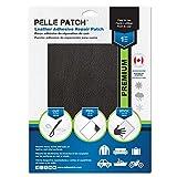 Pelle Patch - Pièce adhésive de réparation de Cuir et Vinyle - 25 Couleurs Disponibles - Premium 28cm x 41cm - Noir