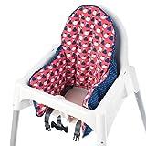 Ikea Antilop Housse de coussin pour chaise haute Rouge/bleu