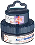 Cirage chaussures PALC (438x)-- différentes couleurs: incolore noir bordeaux-rouge différents tons de brun marron brun bleu marine blanc –- petits pots 50ml avec tampon applicateur, tampon blanc -- PALC - Bleu - bleu, 50ml
