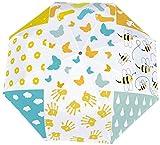 Parapluie manuel à trois volets pour douche de bébé Ensemble de fonds sans couture Nano Grand diamètre Parapluie pliable en trois fois Écran solaire couvrant le soleil et la pluie-Manuel