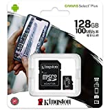 Kingston Canvas Select Plus Carte MIcro SD SDCS2/128GB Class 10 + Adaptateur inclus