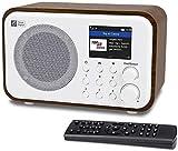 Ocean Digital Radio Internet WiFi WR336N Radio Numérique Portable avec Batterie Rechargeable, Récepteur Bluetooth, 4 Boutons Préréglés, UPnP et DLNA, Ecran Couleur 2,4'