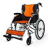 Fauteuil roulant pliant Manuel pliant portable en fauteuil roulant portable Personnes âgées en fauteuil roulant ultra léger Épaississement handicapés Chaise Chariot Super Voyage de transit pliable lég