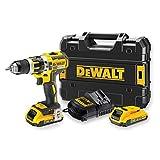 DEWALT - Perceuse Visseuse à Percussion Brushless XR 18V Li-Ion 2Ah - DCD795D2-QW - Perceuse Sans Fil avec Coffret, 2 Batteries / Chargeur - 2 Vitesses (0-600/2000tr/min) - Mandrin 13mm - 360W
