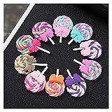 NTZ 10pcs Bow Lollipop Photo Accessoires Réfrigérateur Stickers de réfrigérateur DIY Mobile Phone Shell Matériel Yc705 (Size : Random Color)