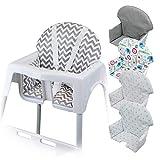 Monsieur Bébé ® Housse d'assise pour chaise haute enfant gamme Délice - 5 coloris - Norme NF EN14988