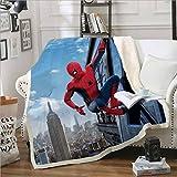qazxsw Confortable et Facile à Nettoyer Couverture multifonctionnelle canapé Bureau Dessin animé Spiderman Banc Couverture extérieure Hiver