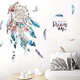 Capteur de Rêves Autocollants Mur Plume Sticker Fille Affiches de l'auberge pour Décoration Masion Chambre boutique Fond de Canapé Salon 45 * 60CM