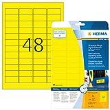 Herma 8030 Etiquettes 45.7 x 21.2 mm Jaune