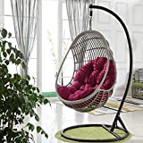 Swing Hanging Basket Seat Cushion, Hanging Hamac Chair Pads, Swing Seat Cushion Thick Nest Hanging Chair for Indoor Outdoor Patio Yard Garden