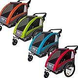 Tiggo World Convertible Jogger Remorque à Vélo 2 en 1, pour Enfants 60302-02 (Vert)