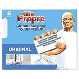 Mr Propre Gomme Magique Originale éponge, Élimine les traces et taches tenaces, Nettoyage toutes surfaces, boîte de 2