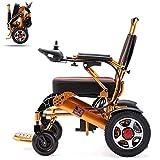 YHSDDLY Pliant en Aluminium Fauteuil Roulant électrique Tout-Terrain électrique Scooter Double Chaise Puissance du Moteur pour Tous Les âges handicapés - Siège Confortable et Dossier