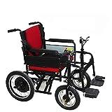 HXPH Fauteuil Roulant Electrique Tout Terrain,Batterie au Plomb 24V12A Rouge Adapté pour Les Personnes âgées, Le Fauteuil Roulant électrique handicapés Panie