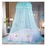 SHWYSHOP Moustiquaire pour lit lit à baldaquin pour Chambre d'enfant crypté Dessin animé Dentelle dôme moustiquaire pour péché (moustiquaire)