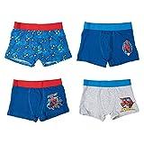United Labels Spiderman Lot de 4 boxers pour garçon Bleu gris - Bleu - 98 cm-104 cm