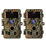 24MP 1080P Caméra de Chasse, la Faune Surveillance Caméra avec No Glow Vision Nocturne Infrarouge Jusqu'à 90ft, Détection de Mouvement, IP66 Étanche, Grand Angle, 0,1 Vitesse de Déclenchement