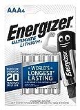Energizer Piles AAA, Ultimate Lithium, Lot de 4