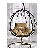 Chaise suspendue de style de loisirs chaise d'oeuf unique chaise en rotin pour meubles d'extérieur, chaise suspendue swing rotin en rattance chaise en osier intérieur et extérieur chaise bébé Balcon c